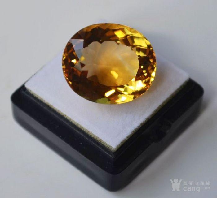 黄水晶 21.32克拉纯天然无加热巴西黄水晶 旺财石图4