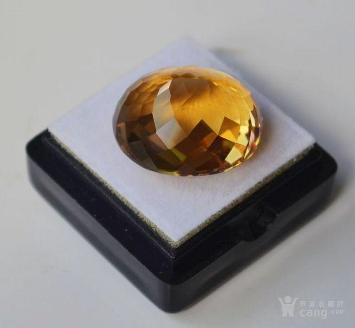 黄水晶 21.32克拉纯天然无加热巴西黄水晶 旺财石图5