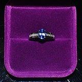 蓝宝石戒指 天然斯里兰卡蓝宝石镶南非钻石18K金女款戒指