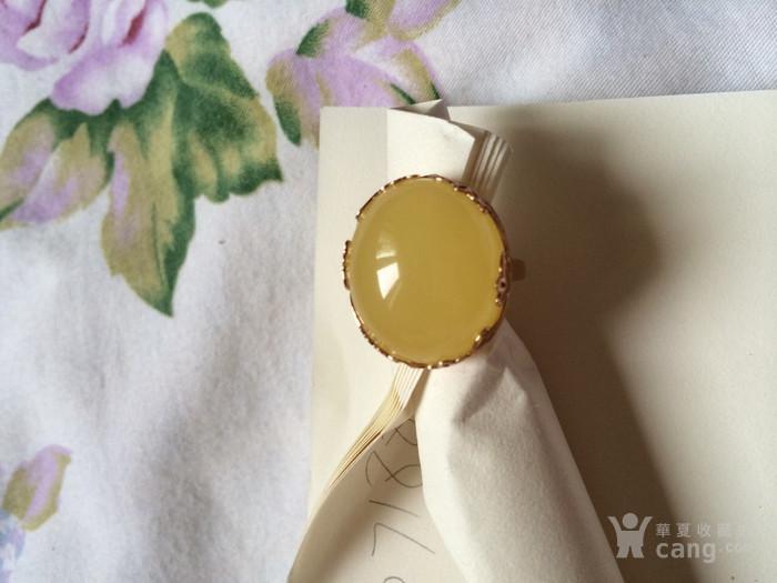 18K金柠檬黄蜜蜡戒指图5