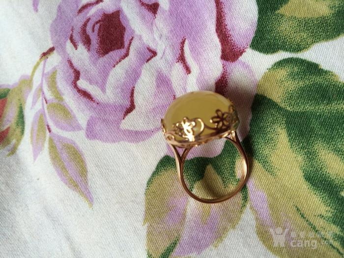 18K金柠檬黄蜜蜡戒指图6