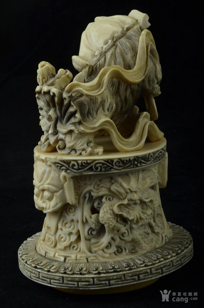 清 珍贵材质狮钮龙纹香炉图6