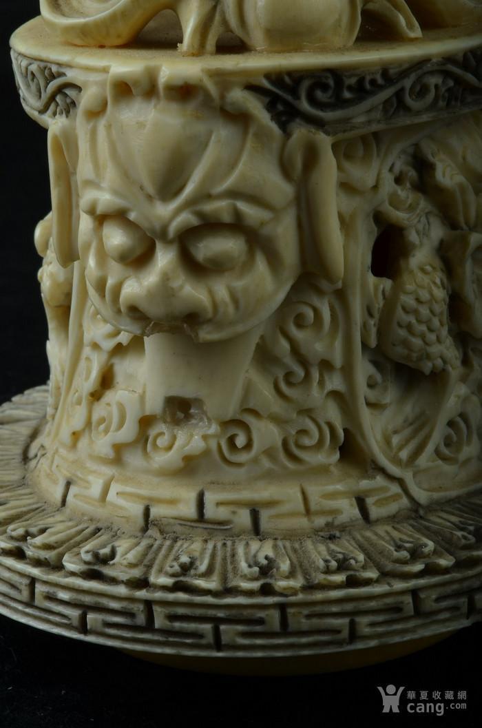 清 珍贵材质狮钮龙纹香炉图8