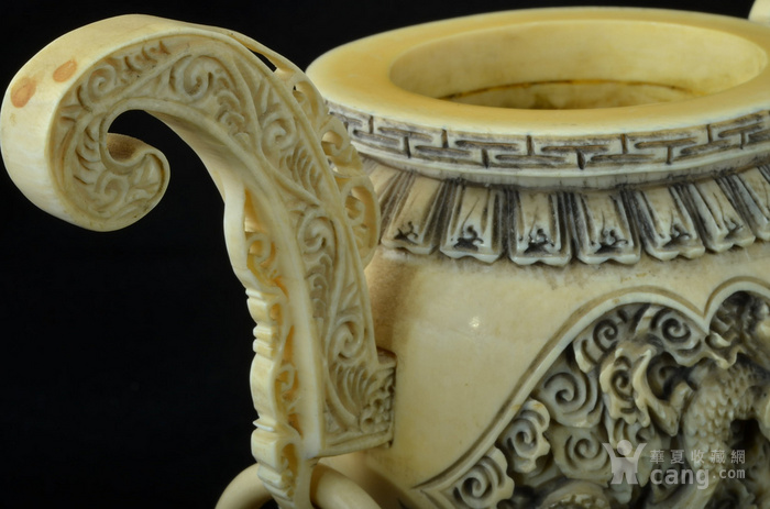 清 珍贵材质狮钮龙纹香炉图11