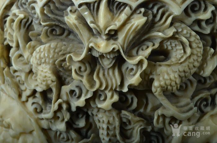 清 珍贵材质狮钮龙纹香炉图12