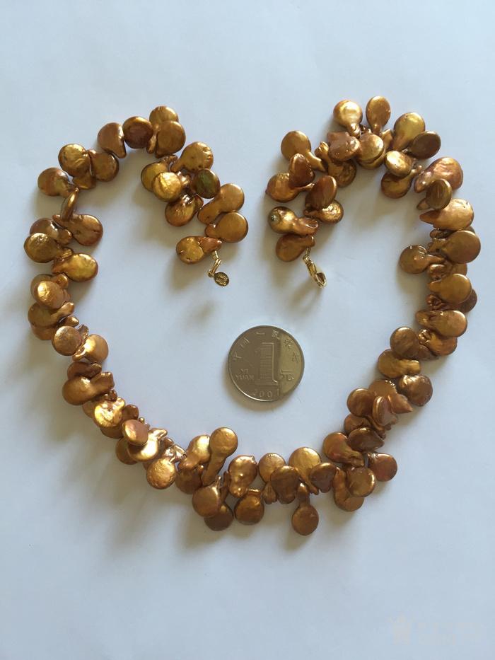 回流 天然淡水金珍珠项链 国内现货图1