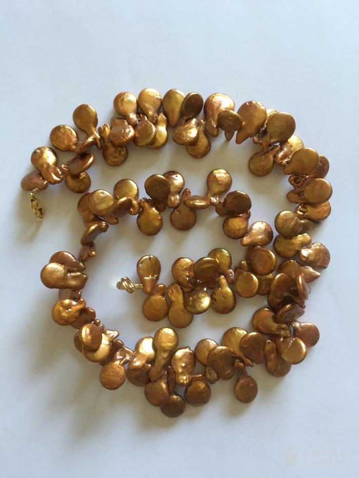 回流 天然淡水金珍珠项链 国内现货图4