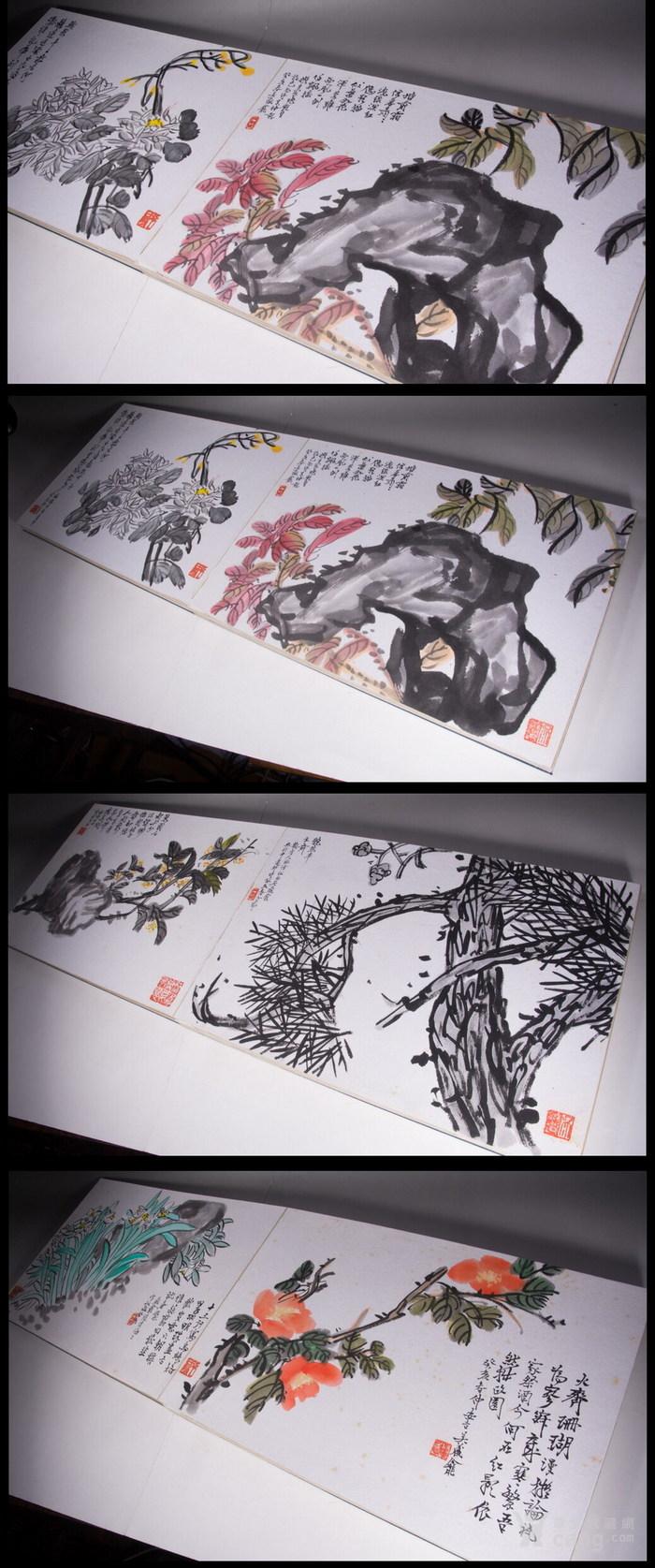 民国--吴昌硕之子--吴藏龛-《画树长春册》图10