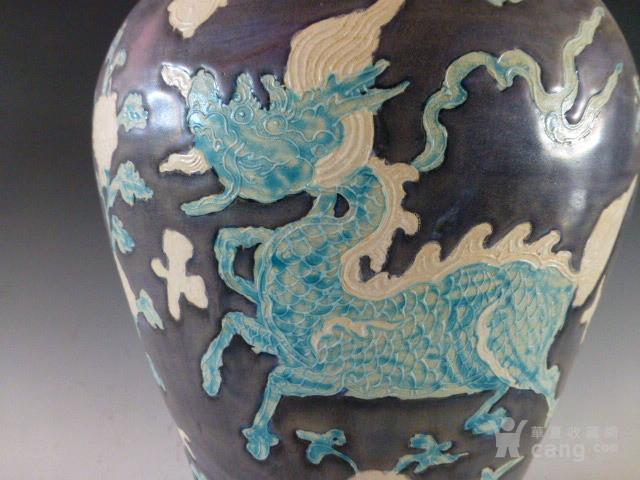 明代墨彩麒麟纹梅瓶图2