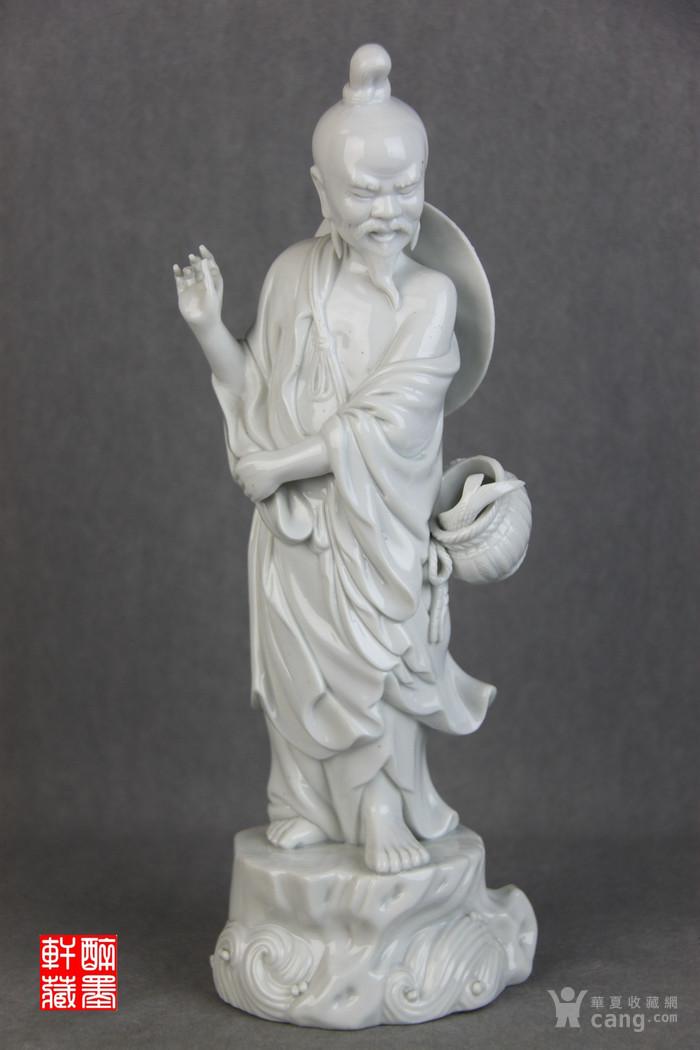 清代白瓷渔翁立像【醉墨轩】-图1