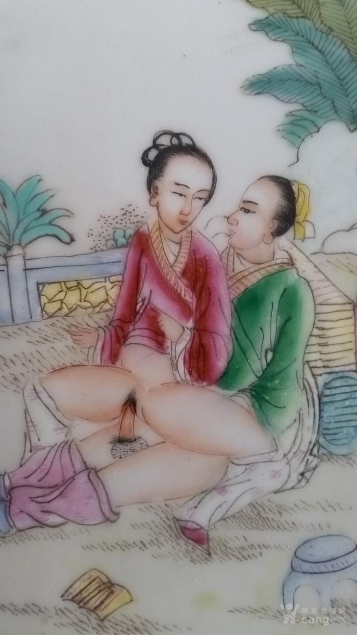 344.春宫图瓷板画-图3