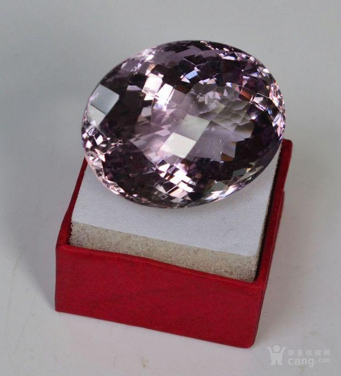 紫水晶 143.12克拉纯天然无加热巴西紫水晶图3