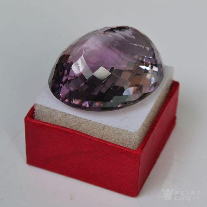 紫水晶 143.12克拉纯天然无加热巴西紫水晶图9