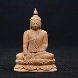 清中期精美黄杨木雕释迦摩尼造像 传神艺术