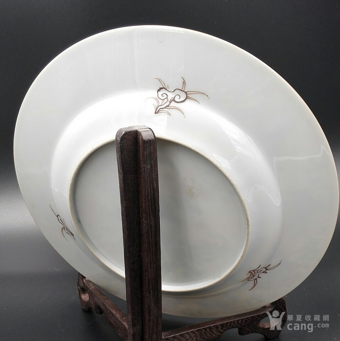 雍正粉彩福禄寿盘精品图5