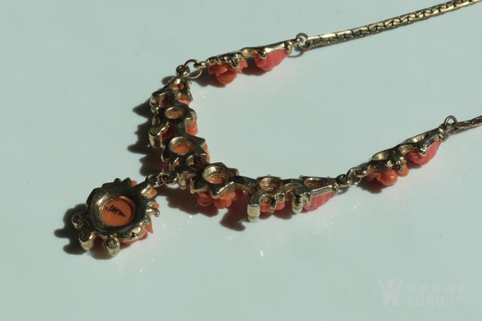 特价回流珠宝:西洋 赛璐璐仿珊瑚 玫瑰花 老项链图5