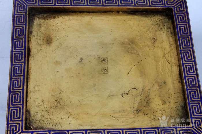 48厘米 德成 铜胎 掐丝 珐琅 四季平安 四方瓶.图10