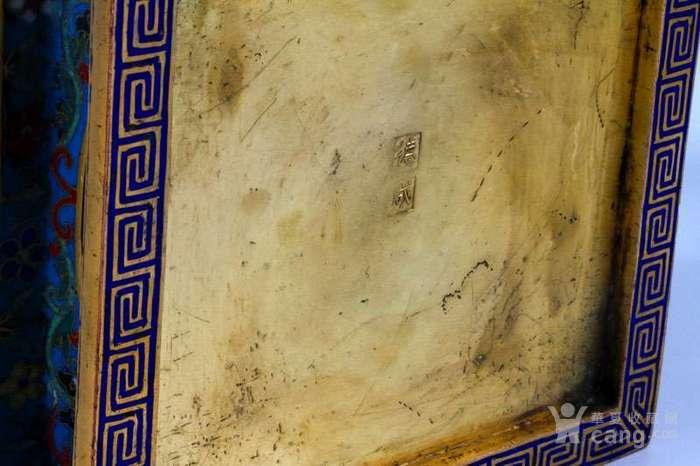 48厘米 德成 铜胎 掐丝 珐琅 四季平安 四方瓶.图12