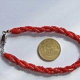 顶级沙丁红珊瑚手链