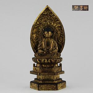 清漆金木雕释迦摩尼佛祖座像 醉墨轩