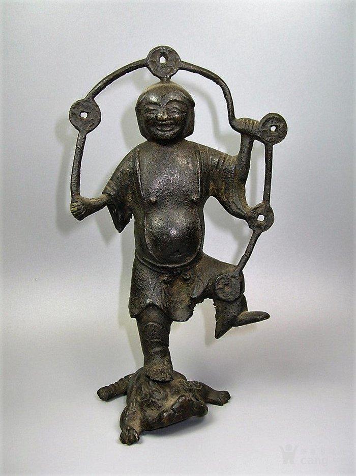 明代 刘海戏金蟾铜像-图1