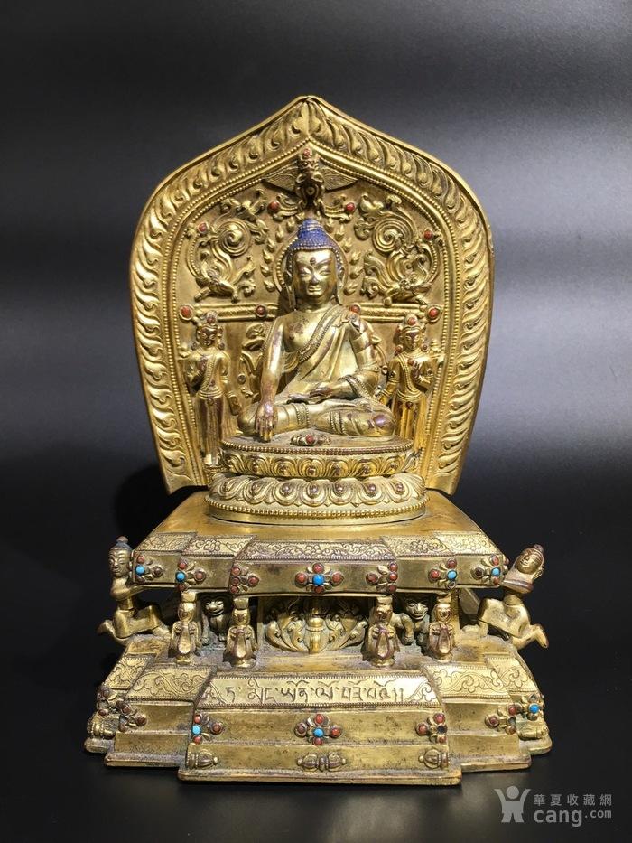 回流清早期铜鎏金藏佛-图1