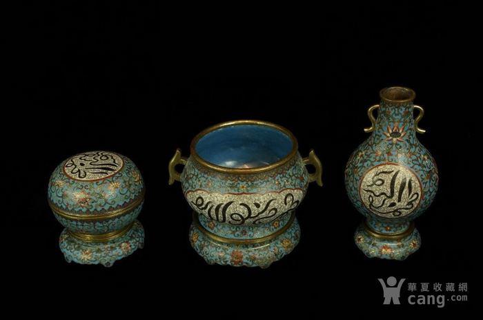 回流乾隆年景泰蓝炉瓶盒三式-图2