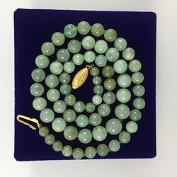 美国回流 创汇期天然翡翠塔珠项链 特价