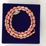 (美国回流)天然粉珊瑚珠项链(国内现货)