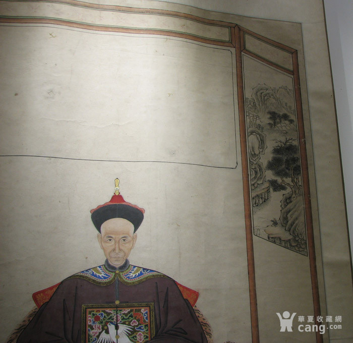 清代 大中堂祖宗画一副『聚古斋』图2