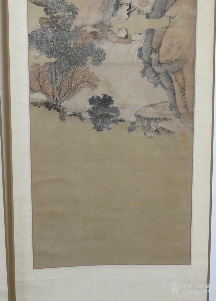清代   无款小写意带彩山水人物四条屏『聚古斋』图9