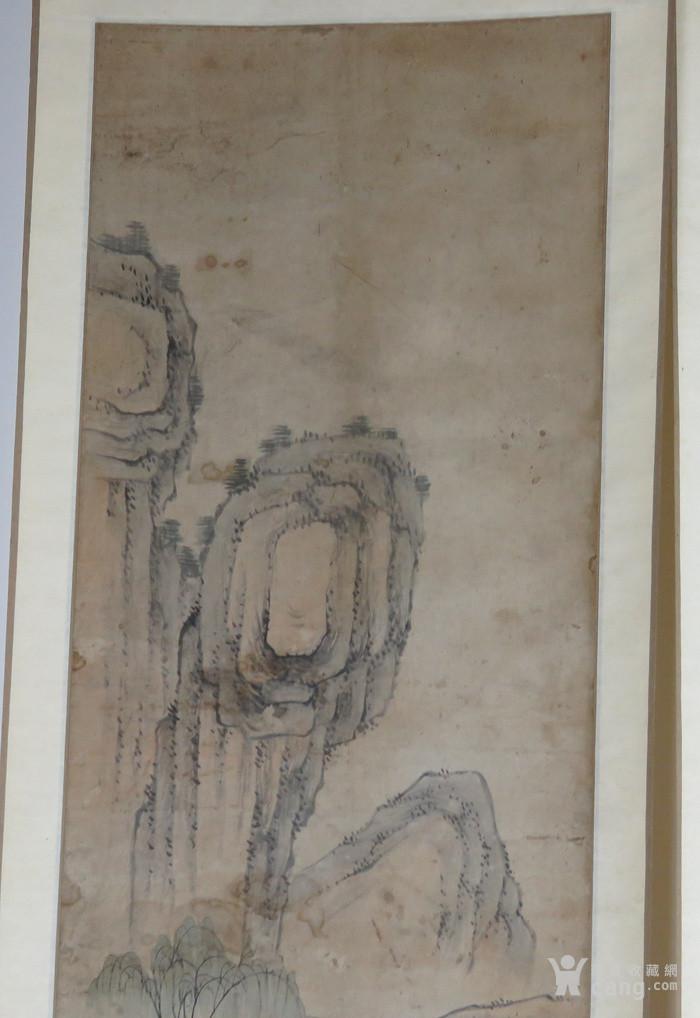 清代   无款小写意带彩山水人物四条屏『聚古斋』图8