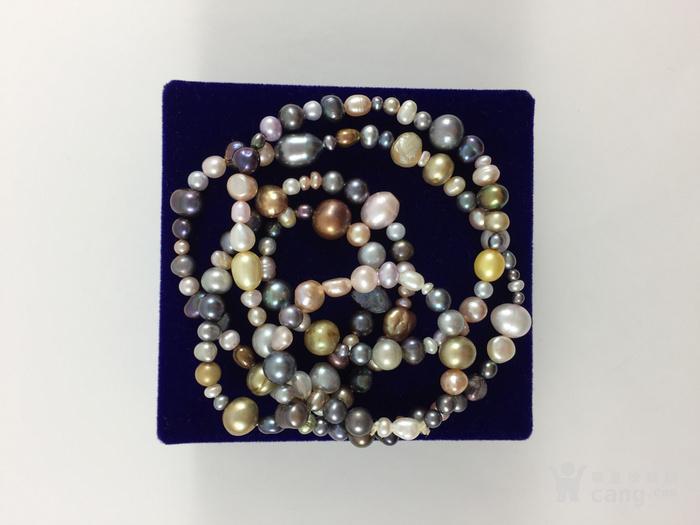 美国回流兴业坊 天然多彩淡水珍珠特长项链。78厘米图5