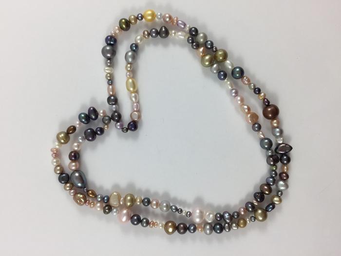 美国回流兴业坊 天然多彩淡水珍珠特长项链。78厘米图3