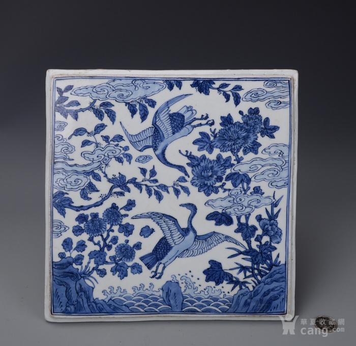 明嘉靖花鸟瓷板图1