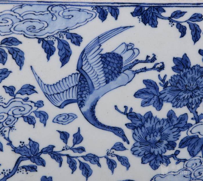 明嘉靖花鸟瓷板图2