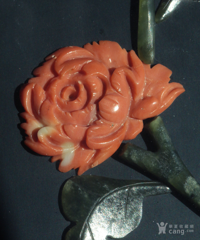 创汇期 珊瑚玉石 富贵吉祥 贴画 挂屏