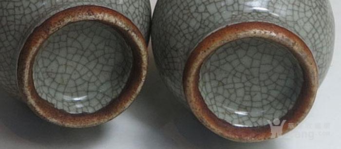 明代 哥窑小花瓶一对图5