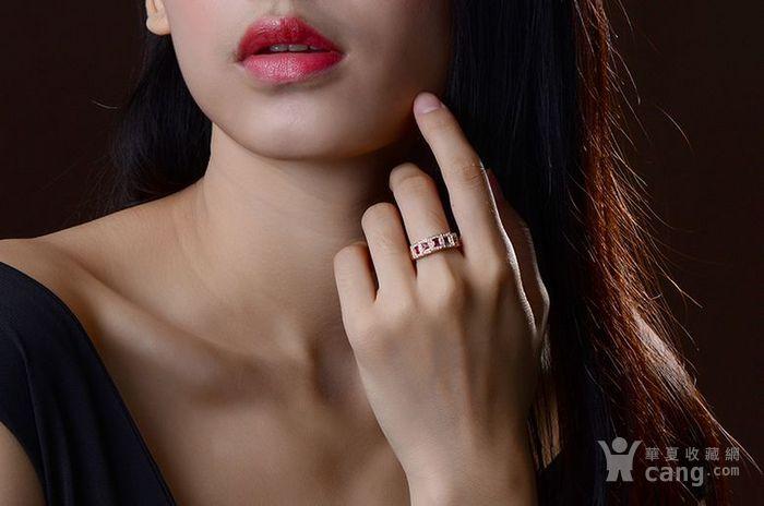 红宝石女戒 天然缅甸抹谷红宝石镶南非钻石18K金女款戒指图4