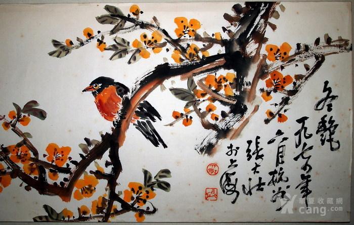 现代四大花鸟画家-张大壮-《冬艳》图2