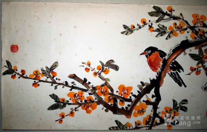 现代四大花鸟画家-张大壮-《冬艳》图3