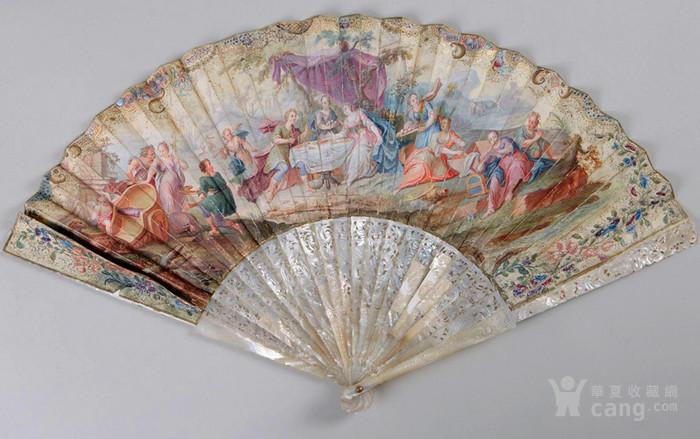 18世纪 镂空 小天使 双面 奢华 贵族 扇子。不议价。图1
