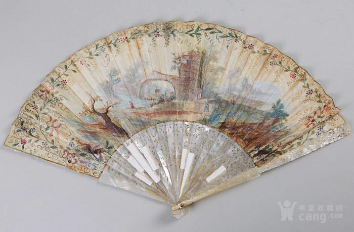 18世纪 镂空 小天使 双面 奢华 贵族 扇子。不议价。图2