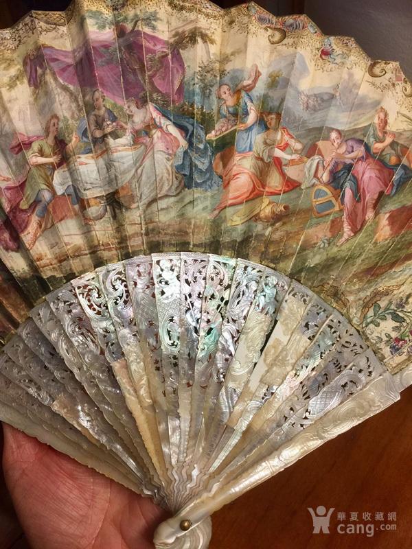 18世纪 镂空 小天使 双面 奢华 贵族 扇子。不议价。图6