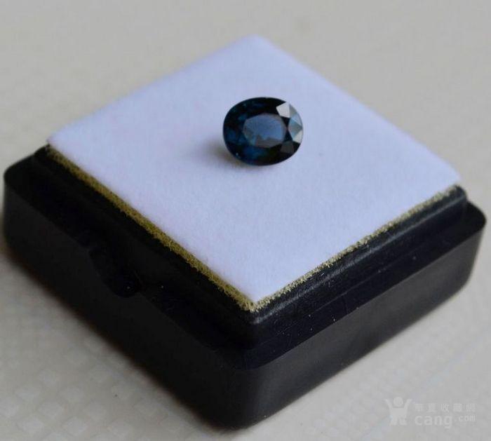 蓝宝石 斯里兰卡纯天然椭圆型1.24克拉蓝宝石图1