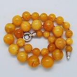 天然 蜜蜡圆珠项链 b150