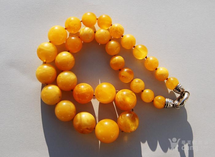 天然 蜜蜡圆珠项链 b150图2