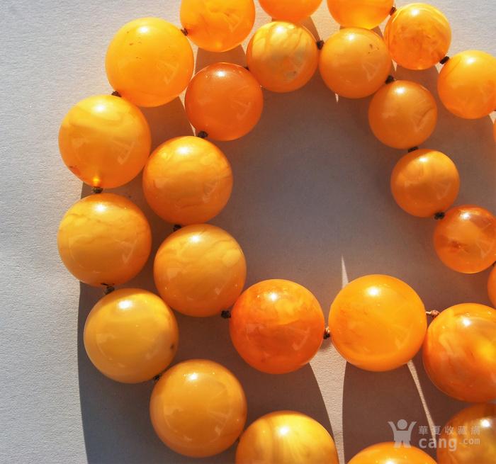 天然 蜜蜡圆珠项链 b150图3