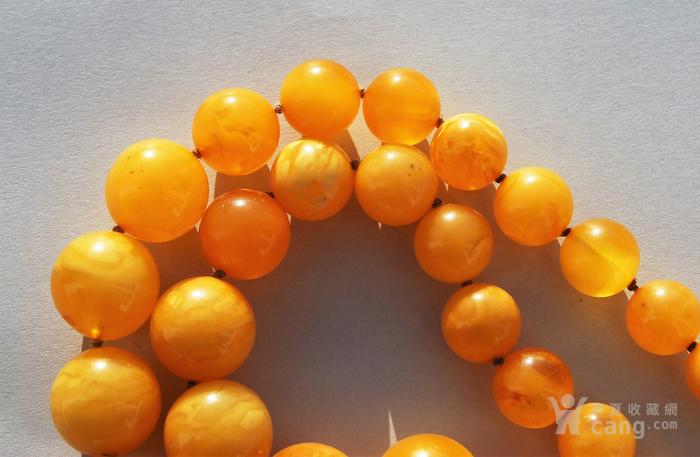 天然 蜜蜡圆珠项链 b150图4