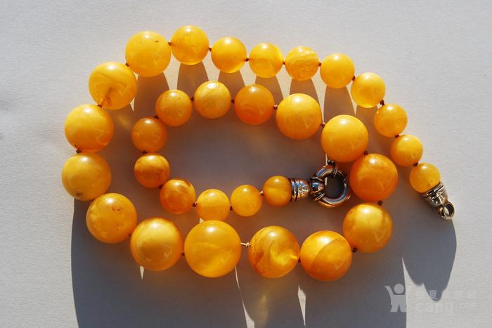 天然 蜜蜡圆珠项链 b150图6